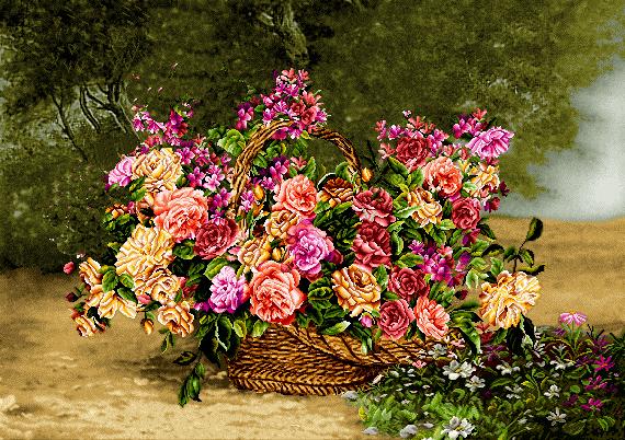 گل و گلدان در طبیعت -کدD114