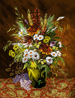 نام طرح :گل و گلدان -کدD116