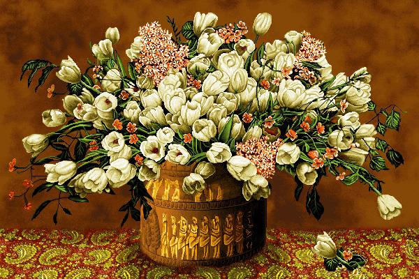 نام طرح : گل و گلدان -کدD119