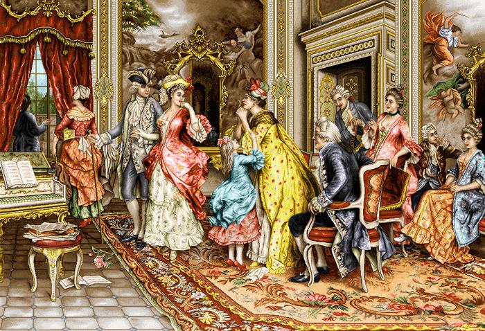 Image result for تابلوهای نقاشی (اشرافی) فرانسه