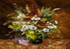 نخ و نقشه تابلو فرش گل و گلدان طولی -کدD116