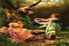 نخ و نقشه آماده تابلوفرش باغ بهشت