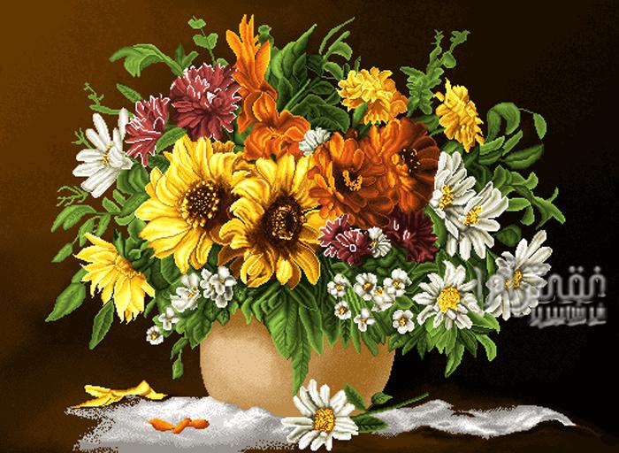 گل و گلدان -کد D375