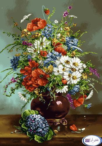 نام طرح : گل و گلدان- كد D126