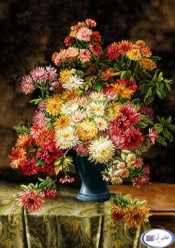 نام طرح : گل و گلدان- كد D129