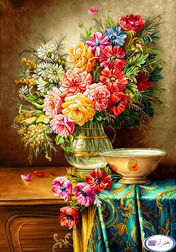 گل و گلدان - كد D130