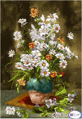 نام طرح : گل و گلدان- كد D131