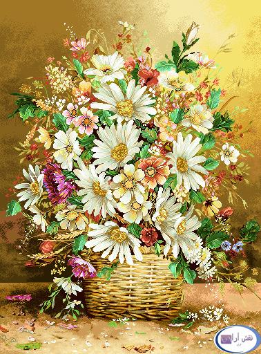 نام طرح : گل و گلدان- كد D132