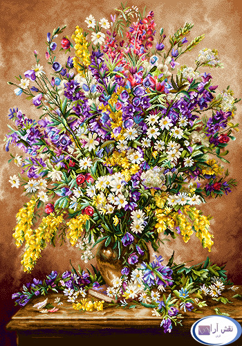 نام طرح : گل و گلدان- كد D133