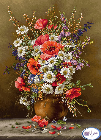 نام طرح : گل و گلدان- كد D134