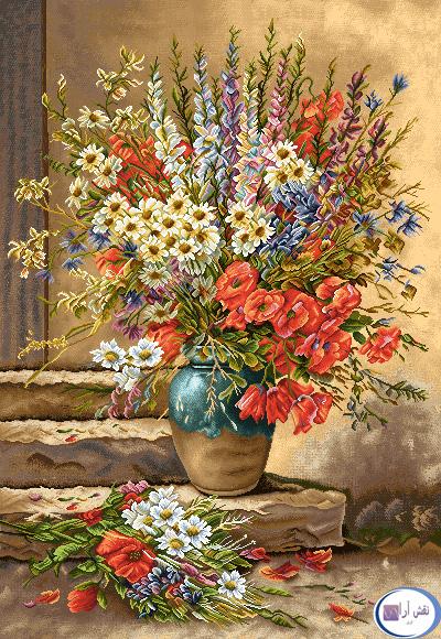 نام طرح : گل و گلدان- كد D136