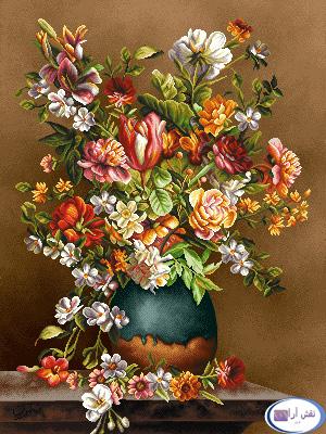 نام طرح : گل و گلدان- كد D138