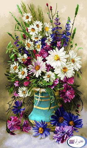 گل و گلدان- كد D145