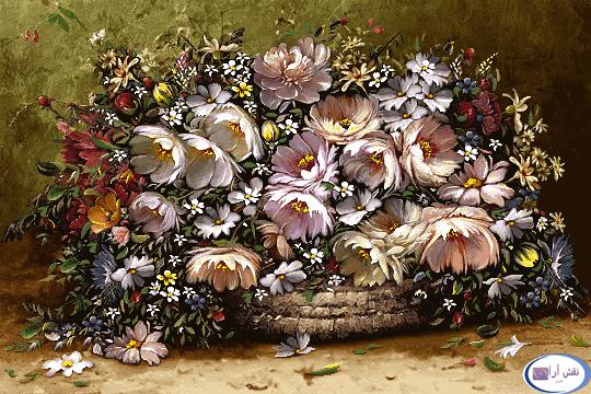 نام طرح : گل و گلدان - کدD146
