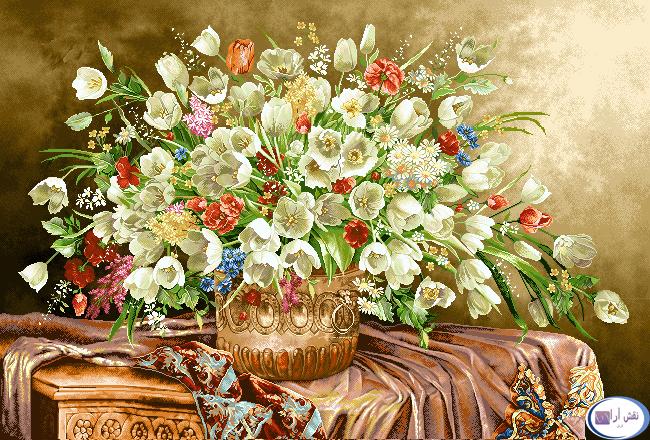 نام طرح : گل و گلدان- كد D148