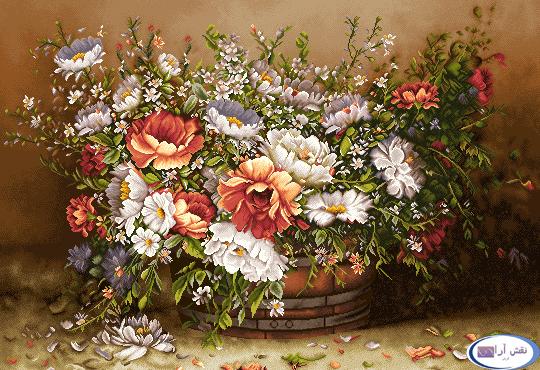 نام طرح : گل و گلدان- كد D149