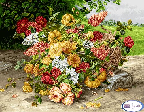 نام طرح : گل و گلدان -کدD151