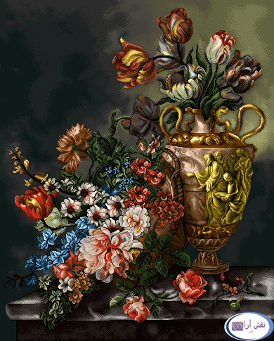 نخ و نقشه های آماده طرحهای گل و گلدان