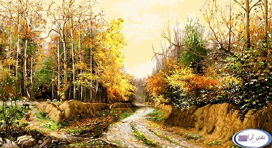 کوچه باغ پاییزی  - کد f264