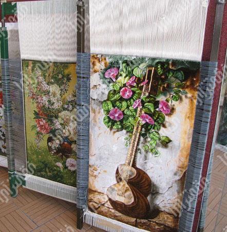 انواع دار چله کشی تابلو فرش ابریشم و پنبه