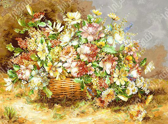 گل و گلدان - كد D377