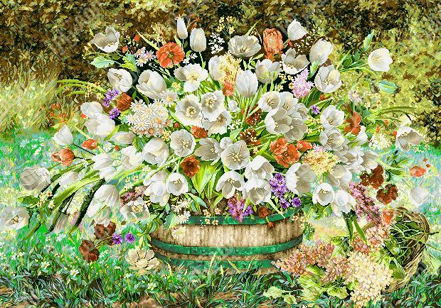 گل و گلدان - كد D381b