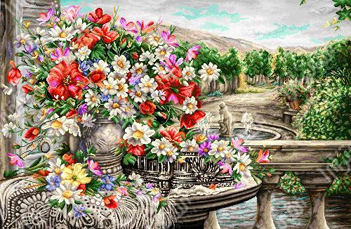 گل و گلدان - كد D407