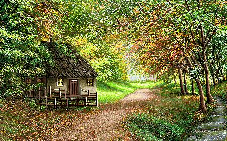 کلبه در جنگل  -کدF192