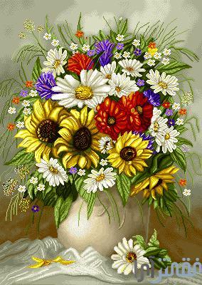 گل و گلدان - كد D721