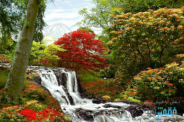 منظره آبشار - كد f1001