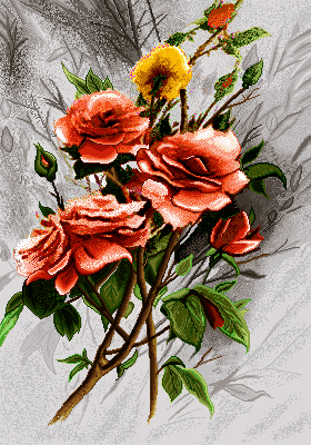 شاخه گل - كد D6