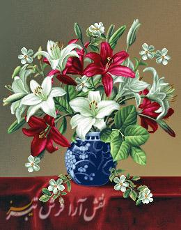 گل و گلدان - كد D722