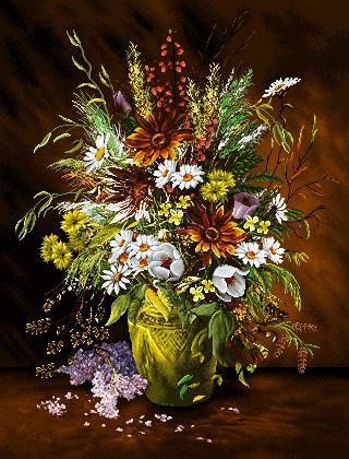 گل و گلدان -کدD117