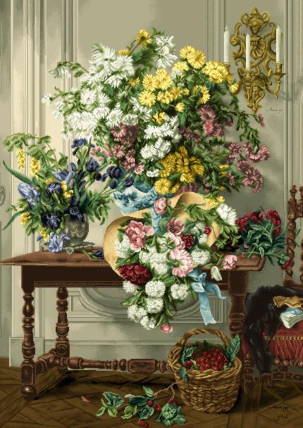 گل و گلدان- كد75 D