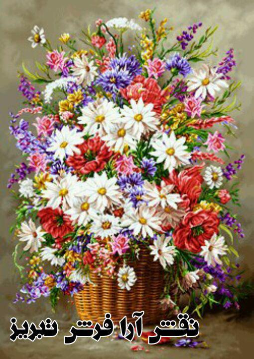 گل و گلدان - کد D408