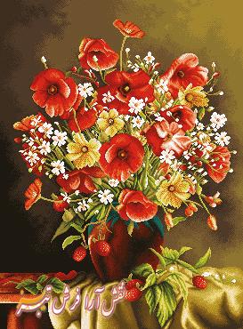 گل و گلدان - كد D403