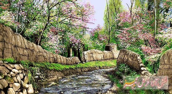 منظره باغ بهار  -کد F - 1017