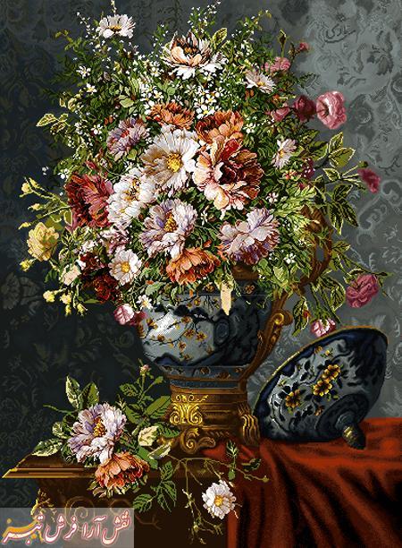 گل و گلدان -کد d - 128new