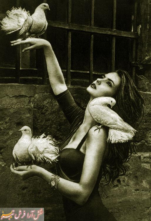 دختر کبوتر باز -کد e201