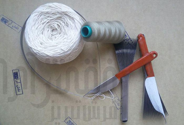 ابزار بافت تابلو فرش (سیخ دفتین قلاب) 2