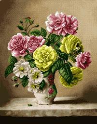 گل و گلدان - کد D - 1009