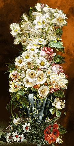 گل و گلدان -کد D - 1010