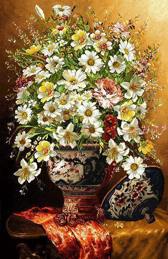 گل و گلدان - كد D401