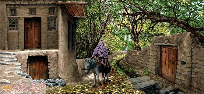 کوچه باغ روستا - کد F - 1030