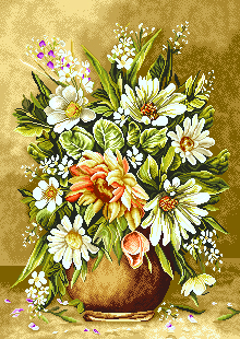 گل و گلدان کوچک  -کد D 2