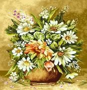 نخ و نقشه گل و گلدان کوچک  -کد D 2