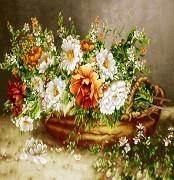 نخ و نقشه گل و گلدان کوچک  -کد D 5