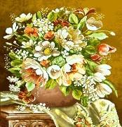گل و گلدان کوچک - كد D7