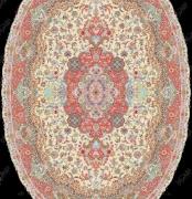 نخ نقشه فرش زیر پایی (بیضی) - کدJ201