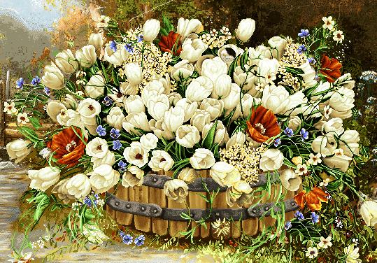 نخ و نقشه گل و گلدان جدید  -کد D10